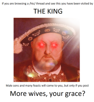 More wives, your grace?