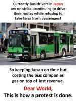 Japanilainen bussilakko