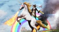 Kissa ratsastaa