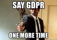 """Sanopa kerrankin vielä """"GDPR"""" ..."""