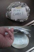 Kakku on loukkaus