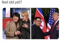 Kim ja Trump nuorina ja nykyään