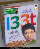 Syö 1337 muroja ja ole 1337.