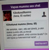Vapaa mummo sex chat