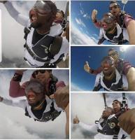 Negro hyppäsi koneesta.