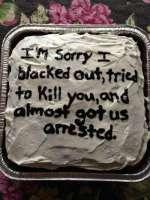 Saat anteeksi, koska kakku
