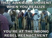 Caught the wrong rebels
