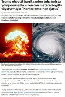 Nyt pitää alkaa jo sotia hurrikaanejakin vastaan