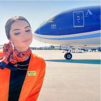 Lentokone antaa pusun