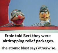 """Ei vittu, Ernie! Se mikkää """"leipäkori"""" ollu."""