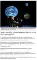 Stephen Hawking on kuollut