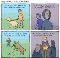 Koiraihmisten elämä vs. kissaihmisten elämä :3