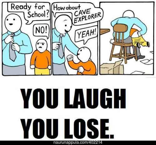 Naurat, hävisit