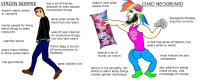 Virgin normie vs Chad neckbeard