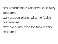 Ozzy Osbourne vs. Post Malone