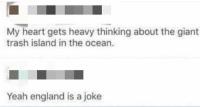 Roskasaari meressä ;__;