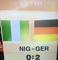 Nigeria ja Saksa pelasivat vastakkain. Saksa voitti.
