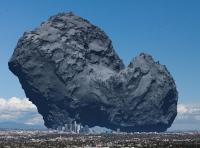 komeetta 67P mittakaavassa (los angeles)