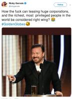 Ricky on oikeistolainen?