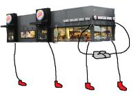 Ja koko Burger King nousi taputtamaan