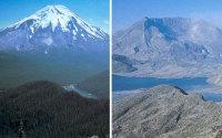 St. Helens ja ympäristö ennen ja jälkeen tulivuorenpurkauksen