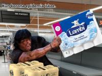 Korona epidemia Rambo.