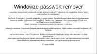 Windoze login pwd remove