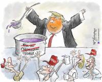 Trumpin sensuroitu sarjakuvapiirros
