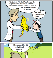 Pokemon tarinan alku.