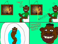 tyrone takes a shit