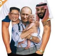 Perhepotretti t-paitaan