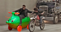 Terminator 2 CGI moottoripyörä