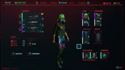 Cyberpunk 2077 Mustalaishahmo