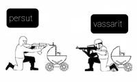 Jos persut ja vassarit olisi sodassa keskenään