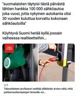 Sähköautorealismia.