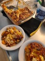 Saunapalvi-tryffelijuustoperunalaatikko